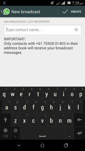 Send Message to Multiple Contacts on WhatsApp, broadcast list