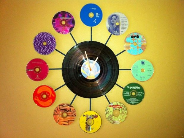 Craft with waste cd best out of waste wiki how for Wall hanging out of waste material