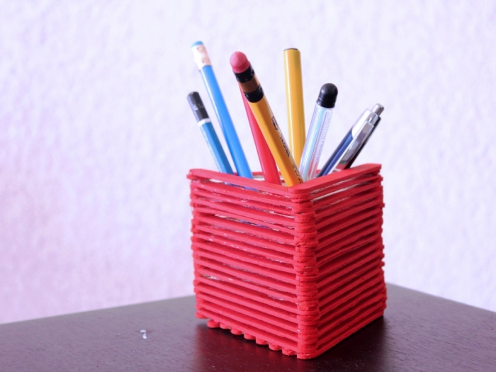 Popsicle Sticks Pen Holder Best Out Of Waste Wiki How