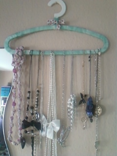 necklace with hanger, Hand Made Jewellery Holders