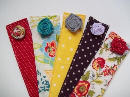 Fabric bookmark, creative bookmark, stylish bookmark