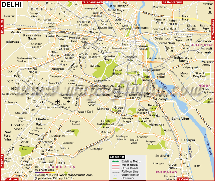 Download Delhi Road Map