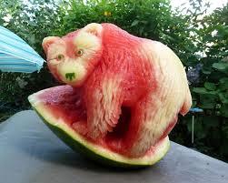 fruit art bear