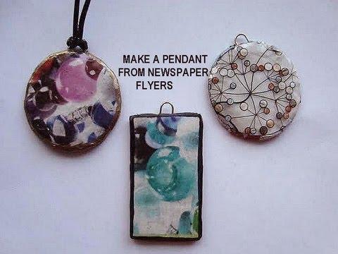 Make Handmade Pendant from Newspaper