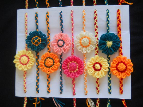 5 creative rakhi ideas make handmade rakhi wiki how for Handmade things from waste material for kids step by step