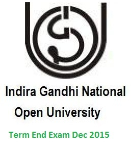 Download IGNOU Hall Ticket | Admit Card December 2015