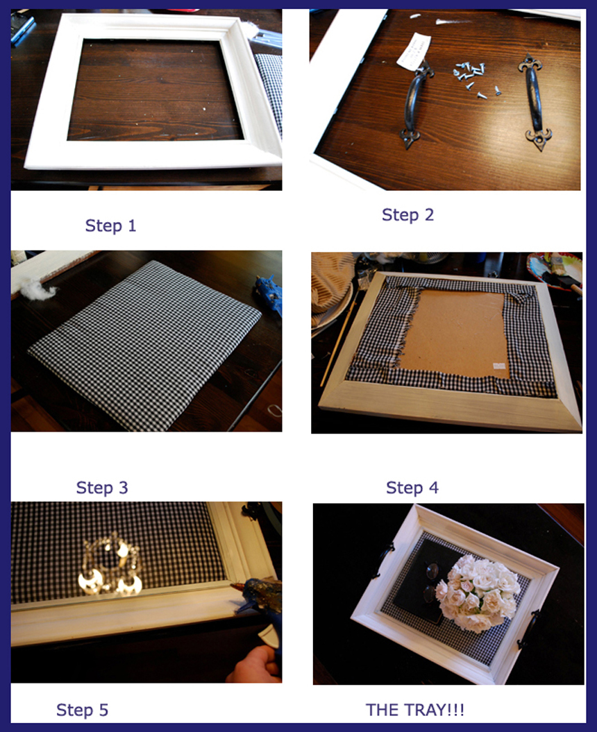 How to Make Old Photo Frame Tray | Best Out of Waste Craft