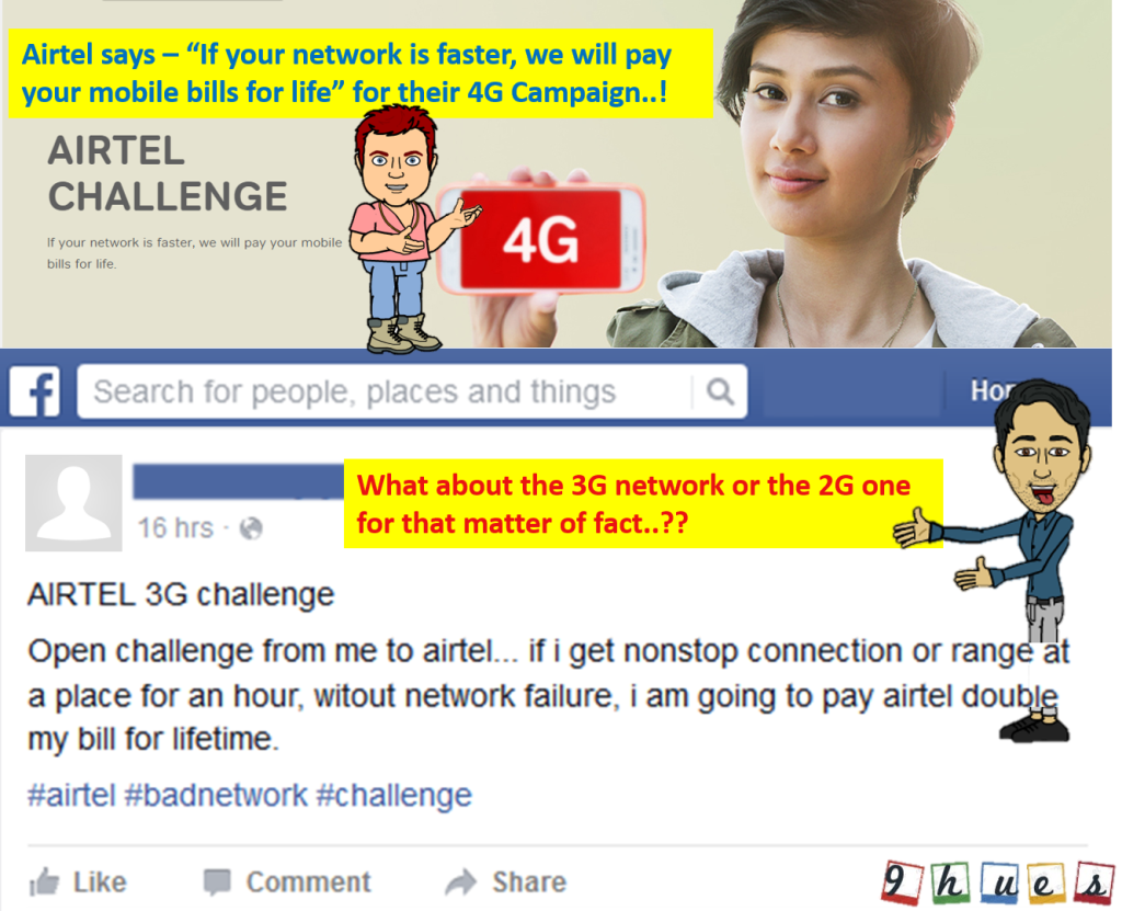 Airtel 4G Challenge Funny Spoof Video | Troll Video