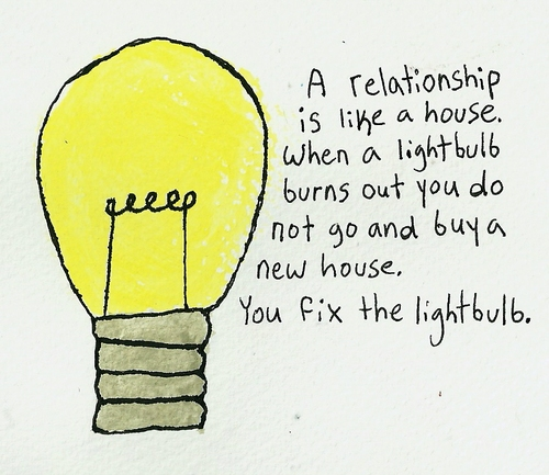 best love relationship quote bulb example