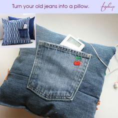 Recycle old Denim Jeans into Amazing Things