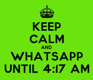 keep kalm whatsapp-dp