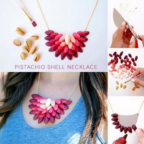 How to Make Shells Necklace from Waste Pista Shells