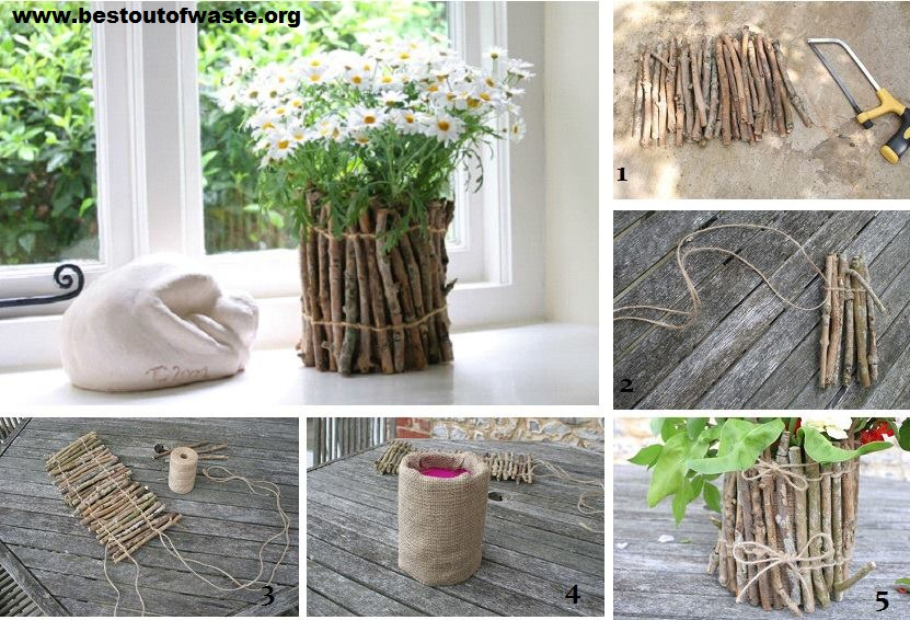 5 best home decor ideas best out of waste wiki how for Garden decorations from recycled materials