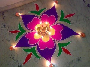 How To Make A Rangoli In Easy Steps | Simple Rangoli Making