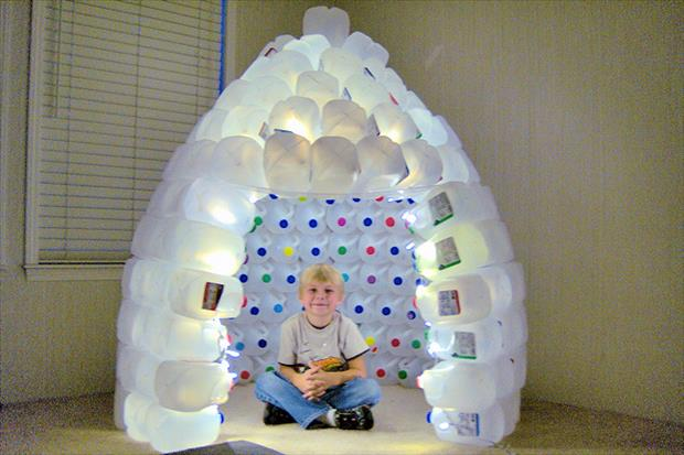 Creative uses of waste plastic bottles recycle bottles for Craft ideas out of waste