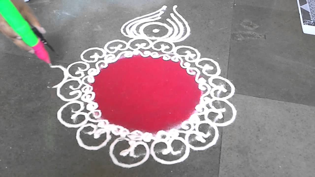 Easy Steps To Make Rangoli Simple And Beautiful