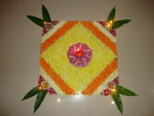 5 Simple Rangoli Designs