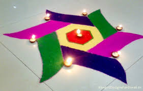 How To Make Rangoli In Easy Steps | Simple Rangoli Making