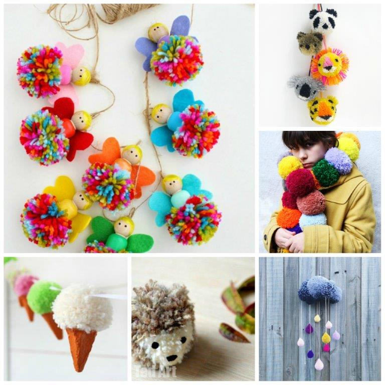 Wiki-How :How to Make Easy Pom Pom Craft