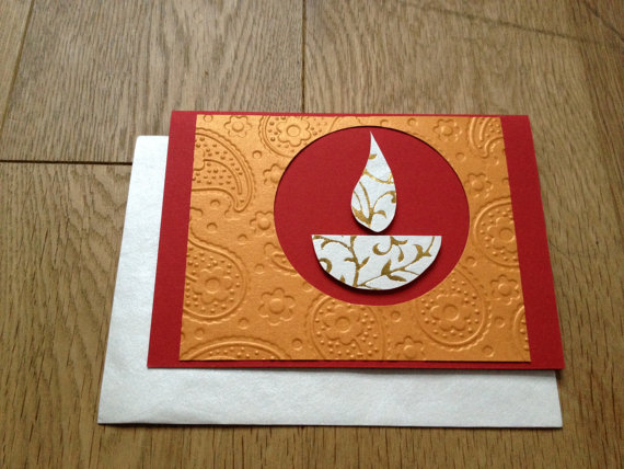 Handmade Cards For Diwali Wishes