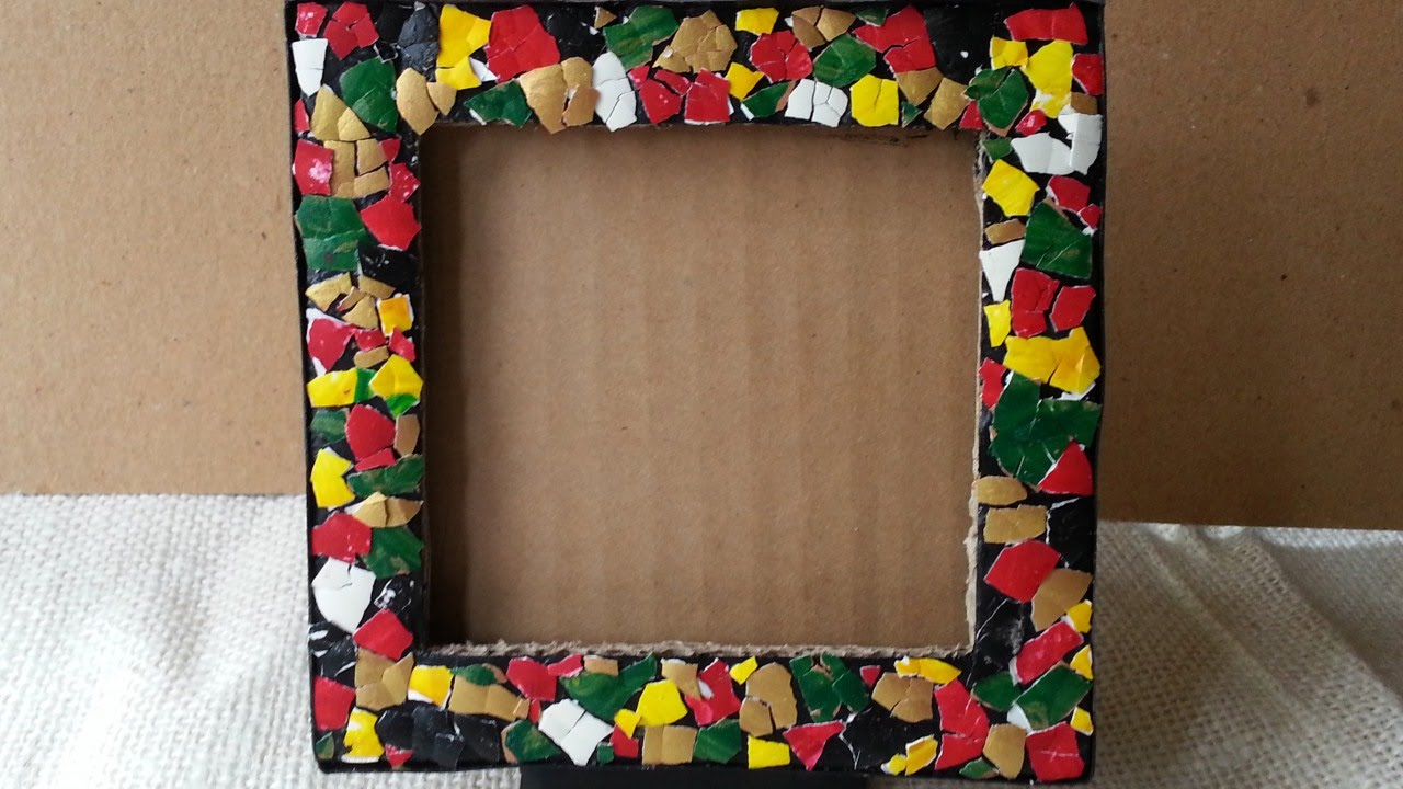 Top 10 photo frames from waste material craft wiki how for Images of best out of waste material