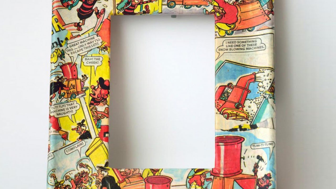 Top 10 photo frames from waste material craft wiki how for Best of waste material ideas