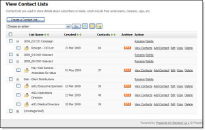 pinpointe-email-contact-lists