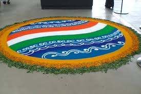 rangoli for republic day