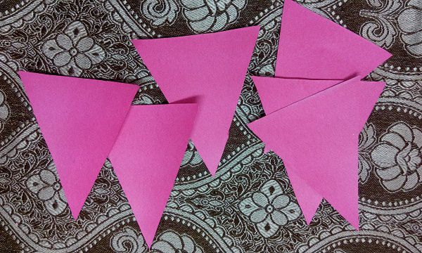 Triangular Cutting design of birthday  banner