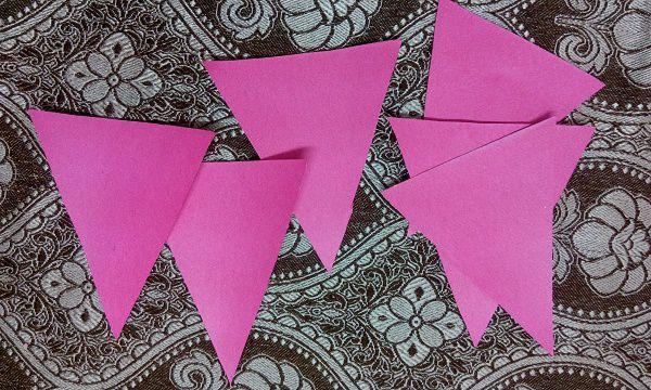 Triangular Cutting design of birthday banner