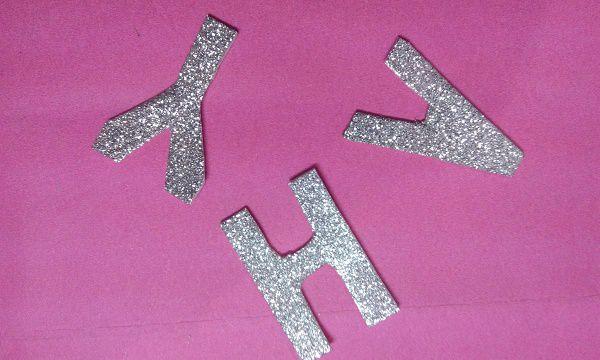 alphabets of glitter sheet