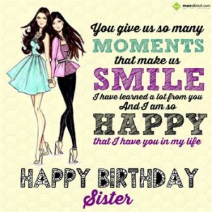 11 Happy Birthday Sister Messages / SMS Wishes in Hindi