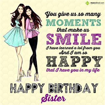 Cute Hindi Happy Birthday Sister SMS, Messages, Wishes, Shayari