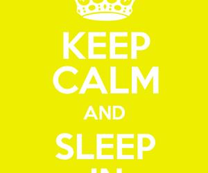 keepk calm and sleep