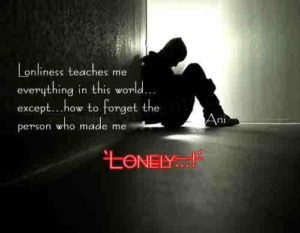 lonely status after breakup