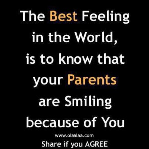 parents are proud of you whatsapp dp