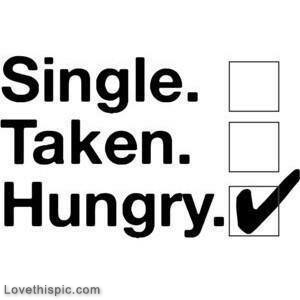 single taken hungry image