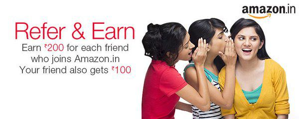 Amazon Free Credits, Free Gift Card - Refer & Earn 200 Rupees Trick
