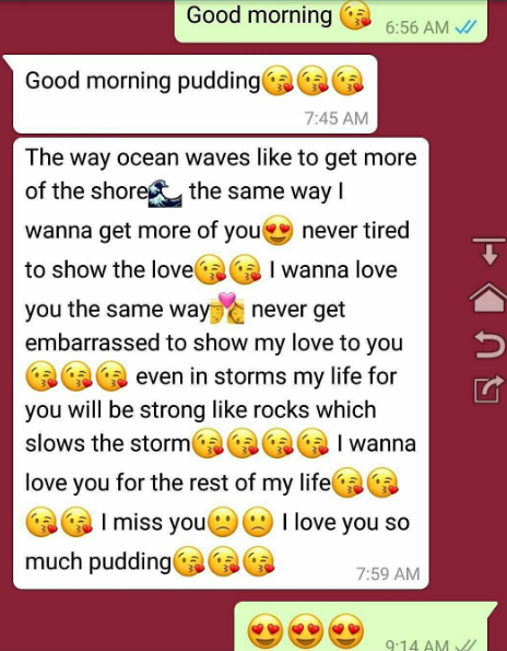 Good Morning sweetest Message to a girl by a boy