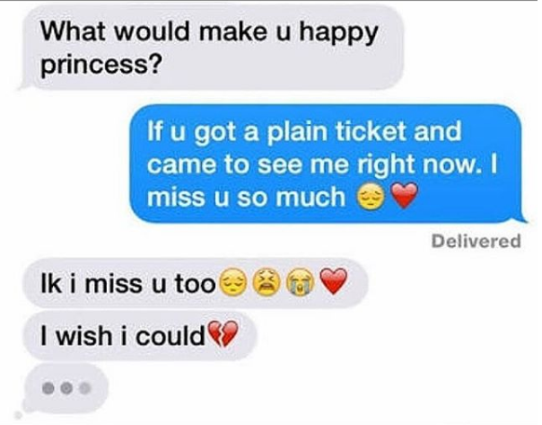 Miss you Girlfriend boyfriend conversation messages