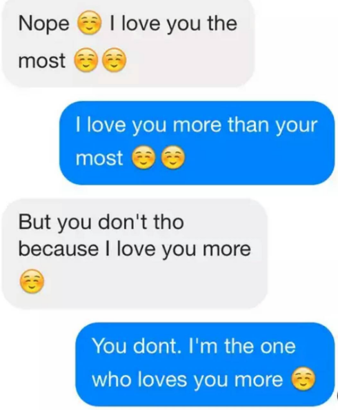 Who loves the most gf or bf cutest conversation whatsapp messages
